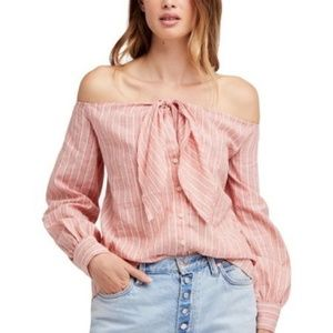 Free People Hello There Beautiful Off-shoulder Top